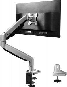 HUANUO Single Arm Monitor Stand - Premium Aluminum Gas Spring