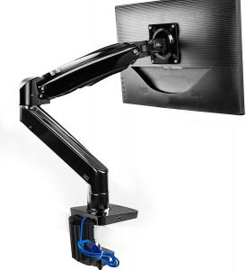 HUANUO Monitor Mount Stand, Long Single Monitor Desk Mount