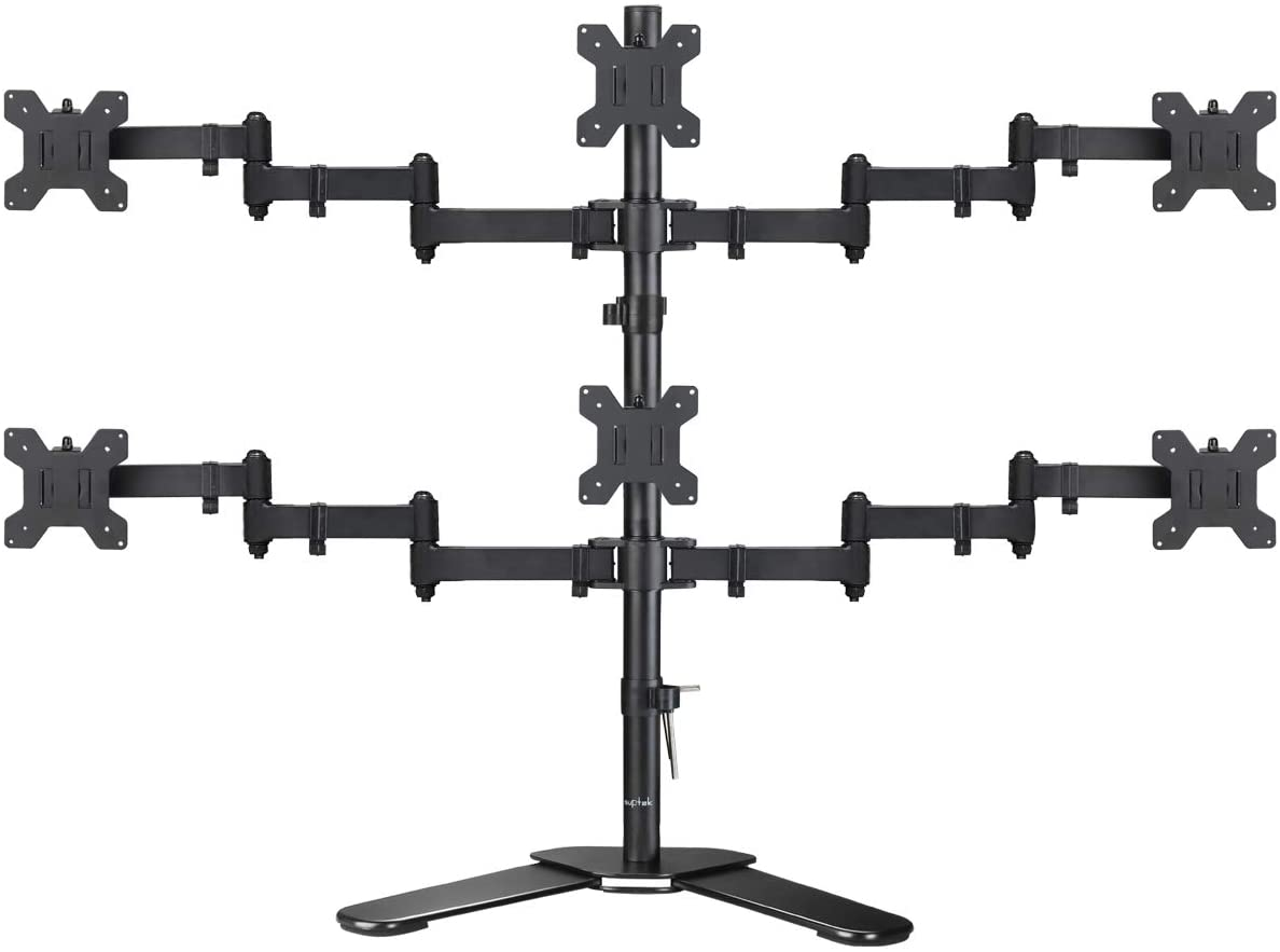 suptek Hex LED LCD Monitor Stand up Free-Standing Desk