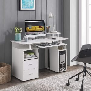 FURLKHY Computer Desk with Drawers